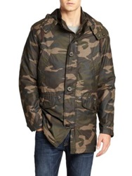 Cole Haan Washed Camo Military Parka Java