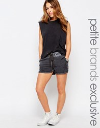 Noisy May Petite Relaxed Drawstring Shorts Black