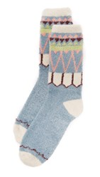 Free People Orian So Soft Slipper Sock Blue Multi