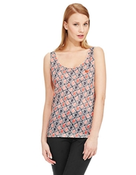 Armani Jeans Printed Front Sleeveless Top