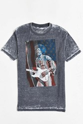 Urban Outfitters Jimi Hendrix Usa Burnout Tee Black