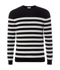 Saint Laurent Stripe Cashmere Jumper Black