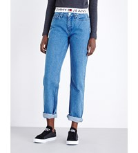 Tommy Hilfiger High Rise Mom Jeans Rich Bue