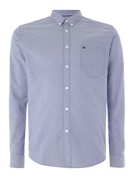 Merc Long Sleeve Button Down Oxford Shirt Blue