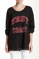 Rebel Yell West Coast Strokes Oversized Pullover Black