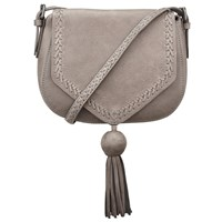 John Lewis Collection Weekend By Georgia Leather Across Body Bag Grey