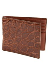 Men's Boconi Crocodile Wallet Brown Tan