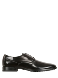 Tod's Brushed Leather Derby Penny Loafers Black