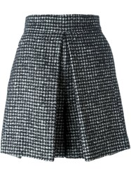 Dolce And Gabbana Herringbone Tweed Skirt Black