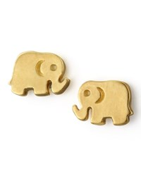 Golden Elephant Stud Earrings Dogeared