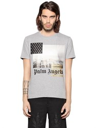 Palm Angels Los Angeles Print Cotton Jersey T Shirt