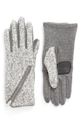 Echo Women's 'Touch Zip Boucle' Tech Gloves Heather Gray