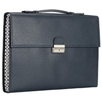 Diplomat Document Case With Handle Navy