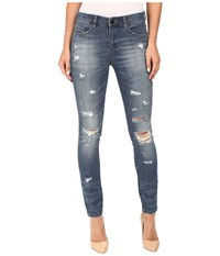Blank Nyc Denim Distressed Skinny In So Called Life Blue Women's Jeans