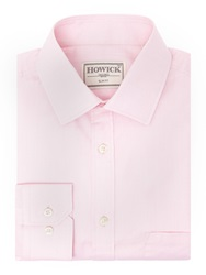 Howick Charter Slim Fit Twill Shirt Pink