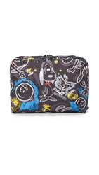 Le Sport Sac Peanuts X Lesportsac Extra Large Rectangular Cosmetic Case Chalkboard Snoopy