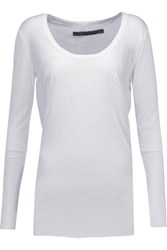 Enza Costa Pima Cotton Top White