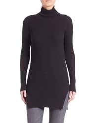 Helmut Lang Cotton And Angora Wool Pullover Black