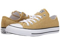 Converse Chuck Taylor All Star Sparkle Knit Ox Gold White Black Women's Classic Shoes