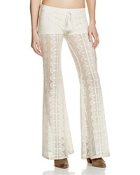 Band Of Gypsies Lace Flare Pants Ivory