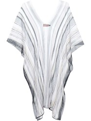 Missoni Semi Sheer Striped Kaftan Black