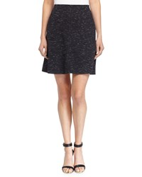 Max Studio Ponte Knit Skirt W Tonal Stitching Black Off