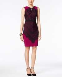 Thalia Sodi Lace Overlay Bodycon Dress Only At Macy's Violet Berry