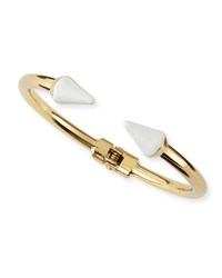Jules Smith Designs Jules Smith Enamel Spike Hinge Cuff Golden