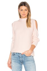 1.State Cold Shoulder Sweater Pink