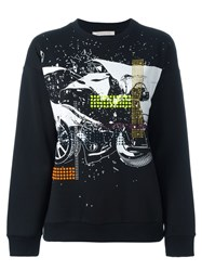 Christopher Kane Embellished Printed Sweatshirt Black