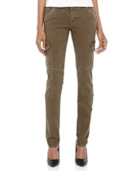 Current Elliott Skinny Twill Cargo Pants Combat Green