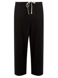 By Walid Tino Cropped Cashmere Trousers Black
