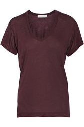 Kain Label Modal And Silk Blend Jersey T Shirt Red