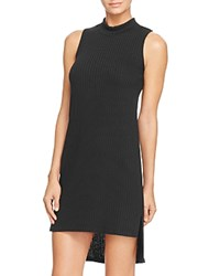 Aqua Sleeveless High Low Dress Black