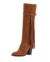 Andre Assous Faelynn Fringe Suede Knee Boot Brown