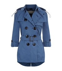 Burberry Brit Knightsdale Hooded Trench Parka Female Blue