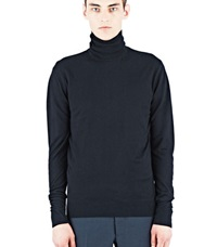 Aiezen Cashmere And Silk Roll Neck Black
