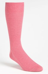 Men's Lorenzo Uomo Ribbed Socks Pink 3 For 30
