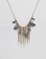 Oasis Semi Precious Shard And Chain Necklace Gold