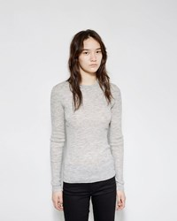 Proenza Schouler Slit Back Rib Knit Sweater Grey Melange