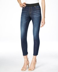 Inc International Concepts Cropped Indigo Wash Jeggings Only At Macy's