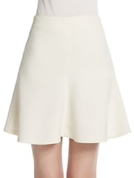 Brunello Cucinelli Double Face Wool Trumpet Skirt Ivory