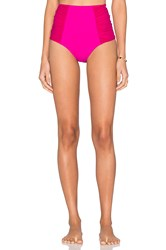 Nookie Horizon Mesh High Waist Bikini Bottom Fuchsia