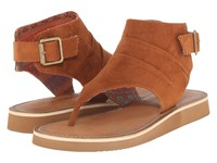 Chinese Laundry Butternut Micro Chestnut Women's Sandals Brown