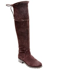 Blondo Snow Knee High Suede Boots Brown
