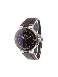 Oris 'Aquis Date Diamonds' Analog Watch Sapphire
