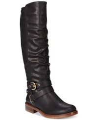 Xoxo Martin Wide Calf Riding Boots Women's Shoes Black