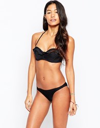 Pistol Panties Claudia Frill Bikini Set With Underwire Black