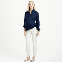 J.Crew Tall Maternity Pull On Toothpick Jean In Chalk