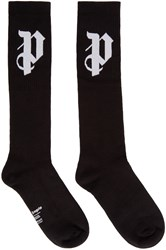 Palm Angels Black Logo Socks